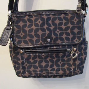 Fossil Marlow Crossbody Black & Tan Messenger Bag